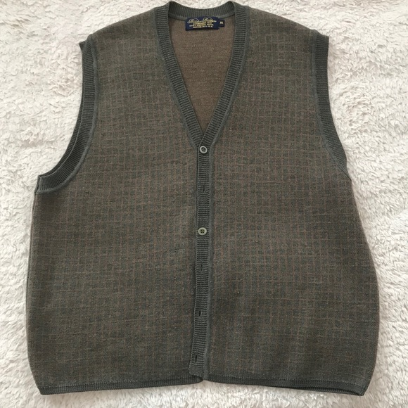 Brooks Brothers Sweaters Mens Button Down Sweater Vest Poshmark